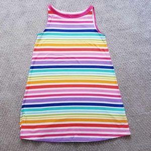 BNWOT: Land's End Rainbow Dress, Size 7-8 Years